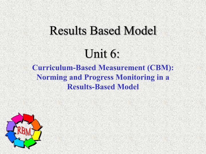 Results Based Model