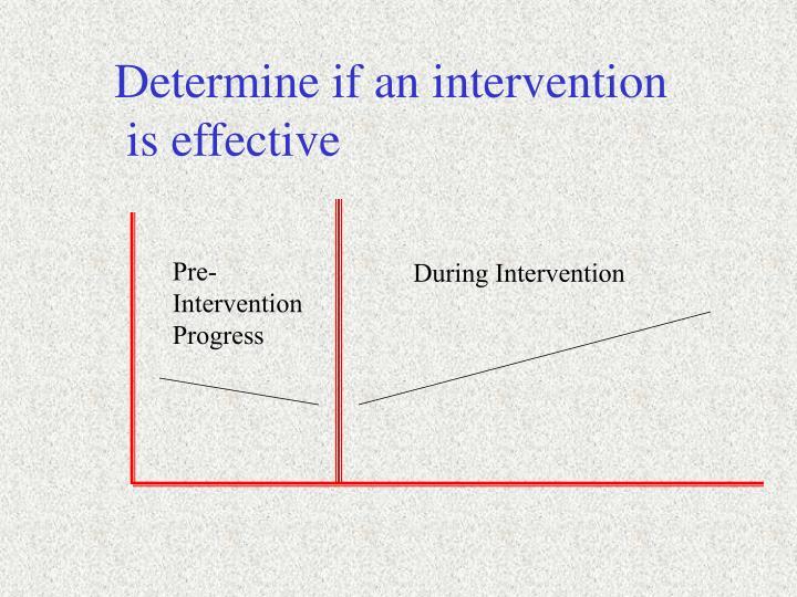 Determine if an intervention