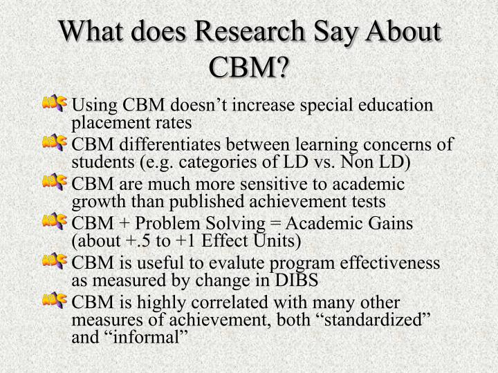 What does Research Say About CBM?