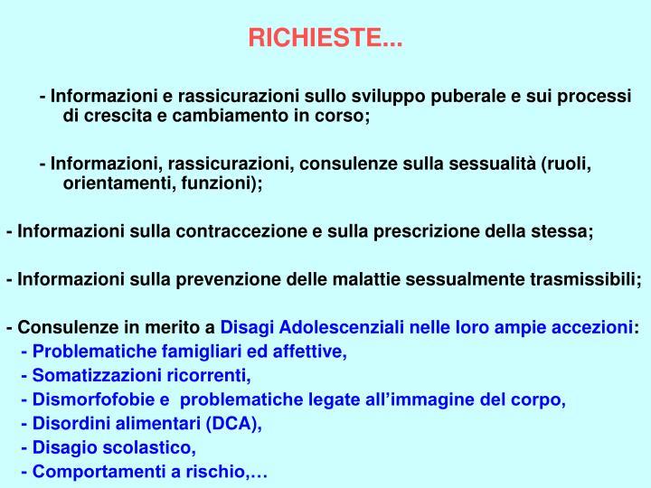 RICHIESTE...