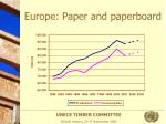 europe paper and paperboard