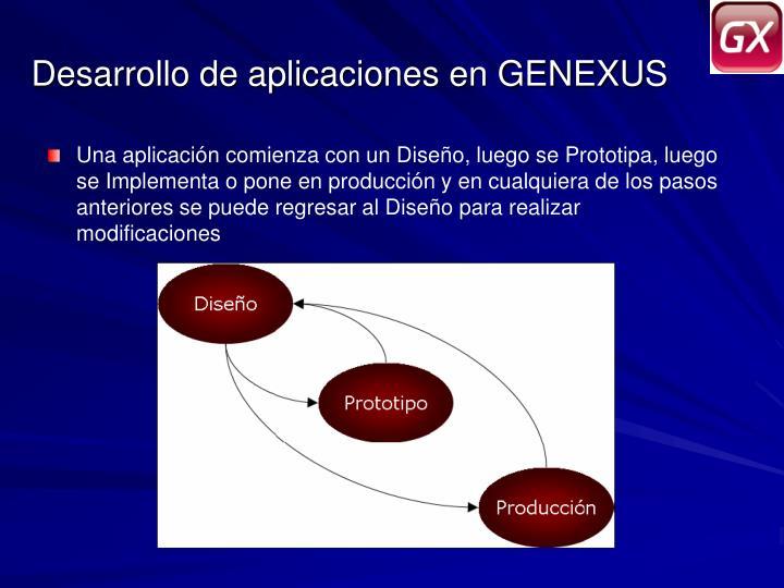 Desarrollo de aplicaciones en GENEXUS