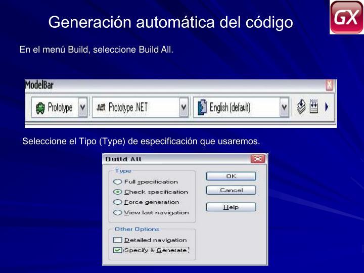 Generación automática del código