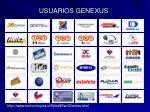 usuarios genexus