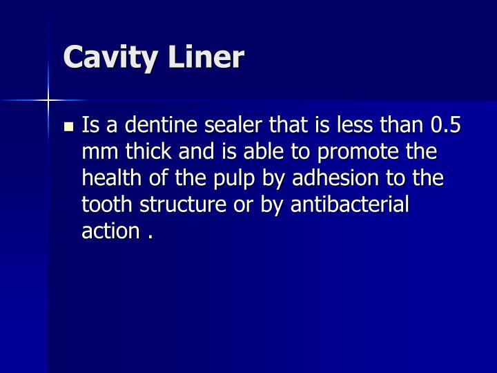 Cavity Liner