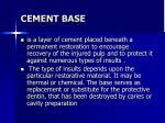 cement base