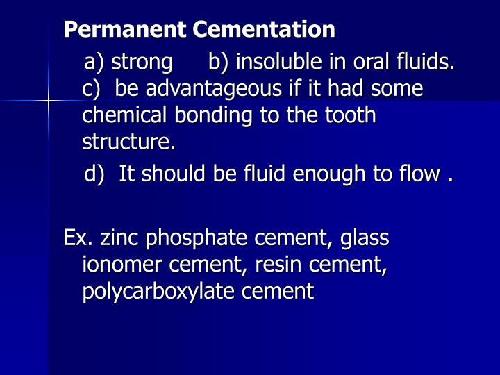 Permanent Cementation