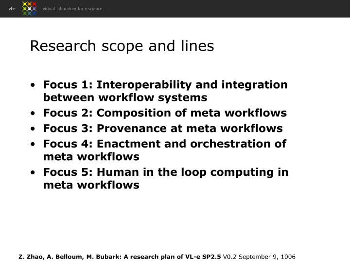 Research scope and lines