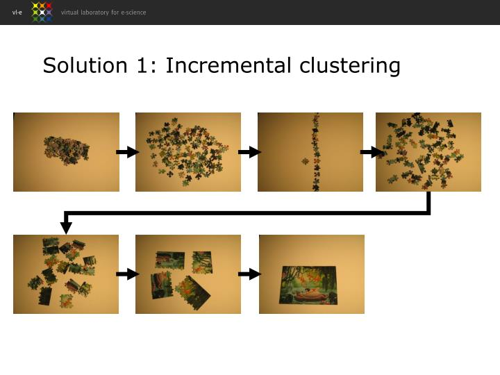 Solution 1: Incremental clustering