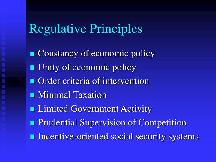 Regulative Principles