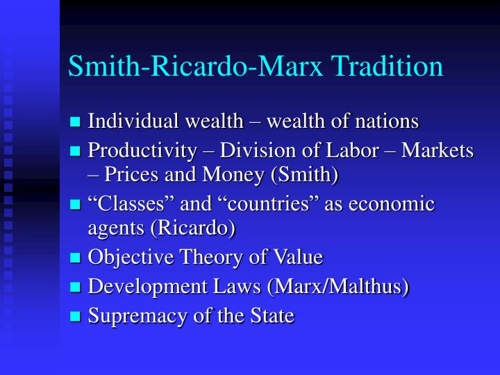 Smith-Ricardo-Marx Tradition