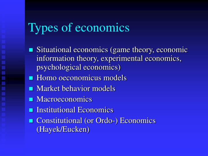 Types of economics