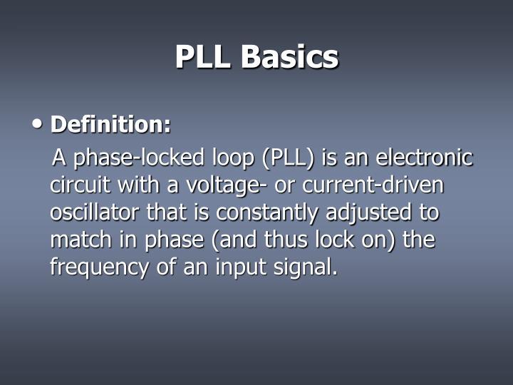 PLL Basics