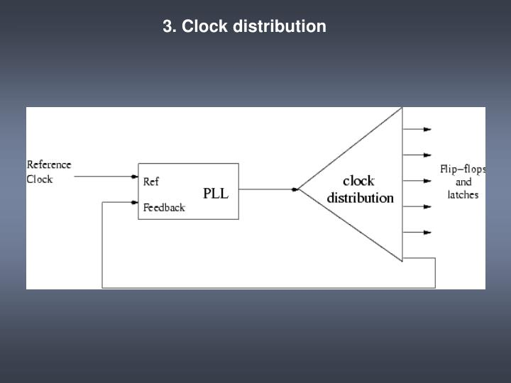 3. Clock distribution