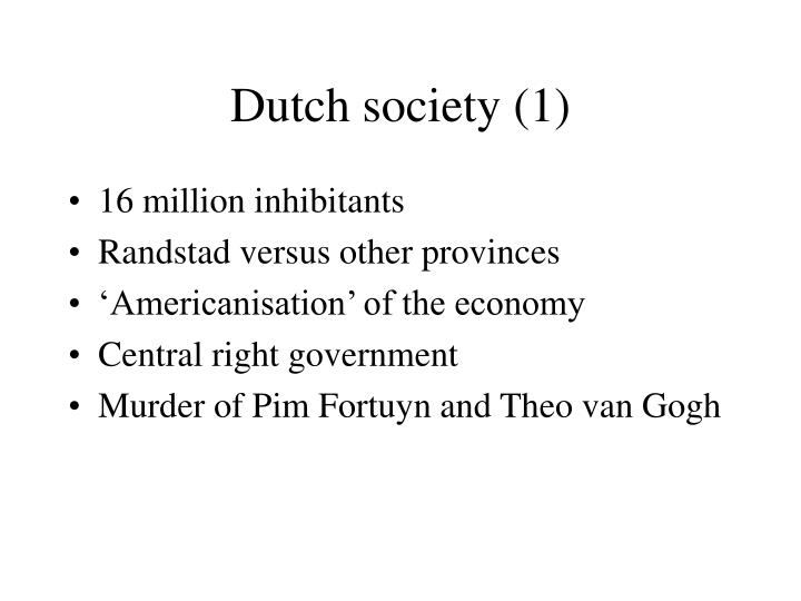 Dutch society 1