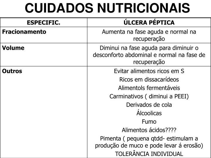 CUIDADOS NUTRICIONAIS