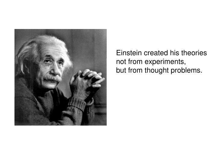 Einstein created his theories