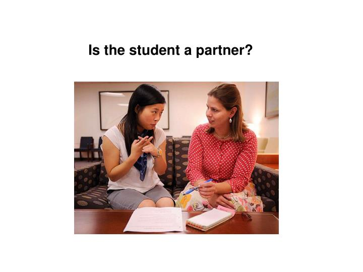 Is the student a partner?