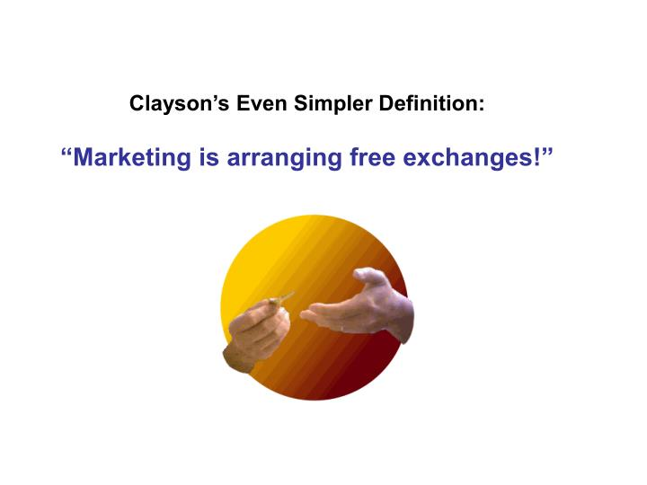 Clayson's Even Simpler Definition: