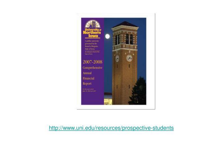 http://www.uni.edu/resources/prospective-students