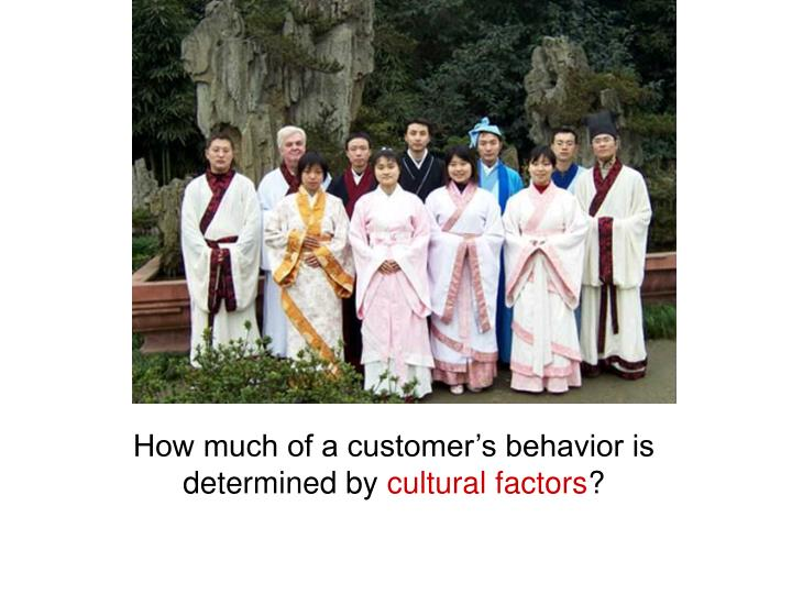 How much of a customer's behavior is