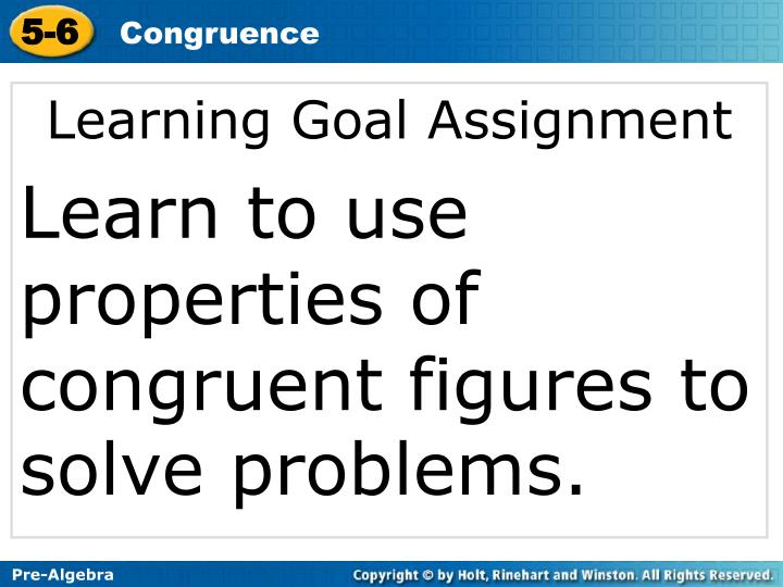 Learning Goal Assignment