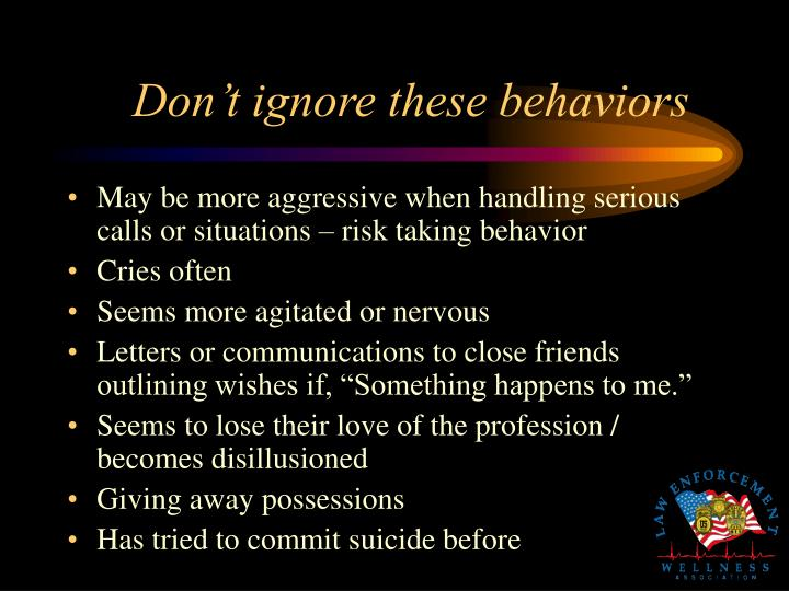 Don't ignore these behaviors