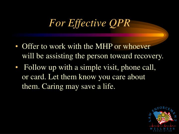 For Effective QPR