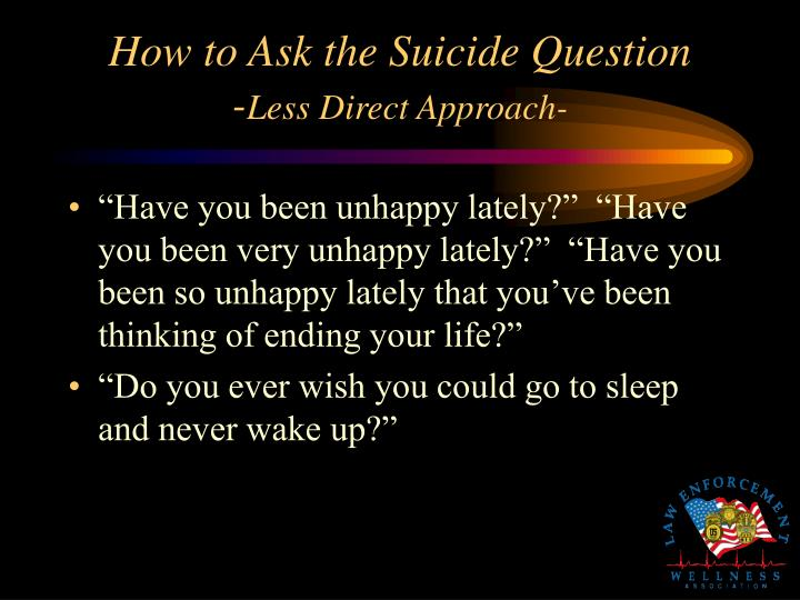 How to Ask the Suicide Question