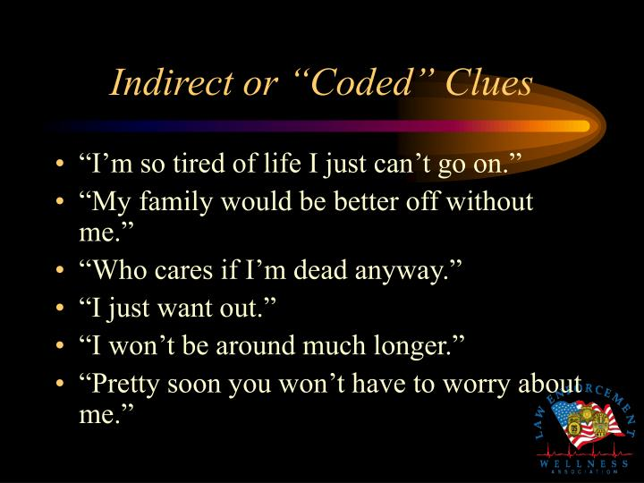 "Indirect or ""Coded"" Clues"