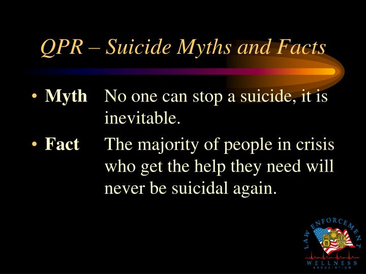 QPR – Suicide Myths and Facts