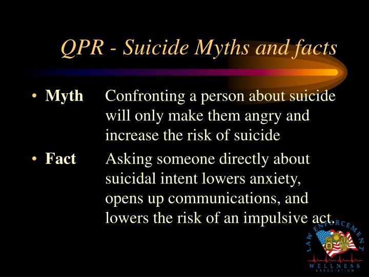 QPR - Suicide Myths and facts