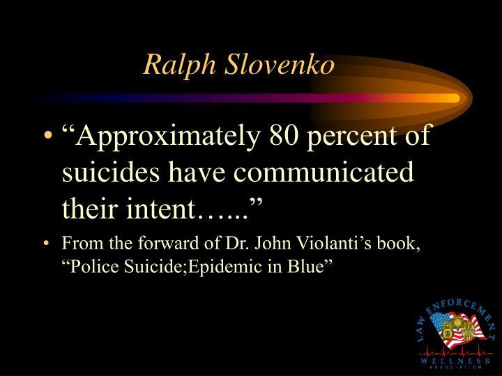 Ralph Slovenko