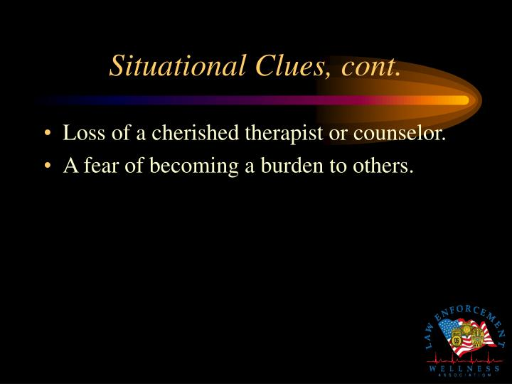 Situational Clues, cont.