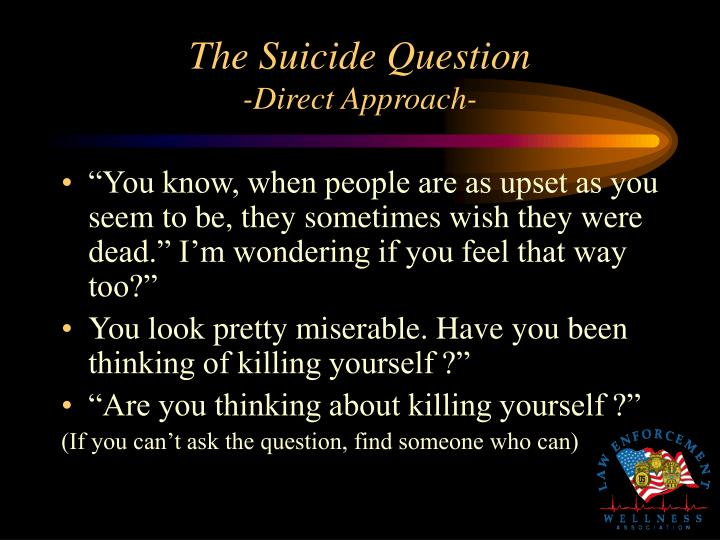 The Suicide Question