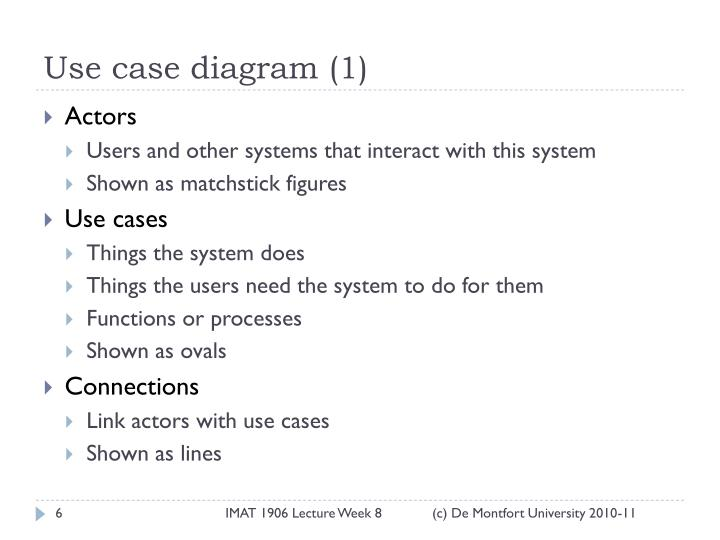 Use case diagram (1)