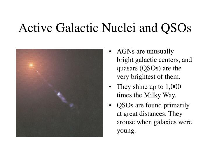 Active Galactic Nuclei and QSOs