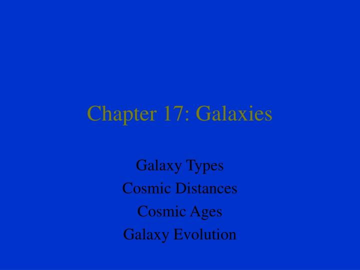 Chapter 17 galaxies