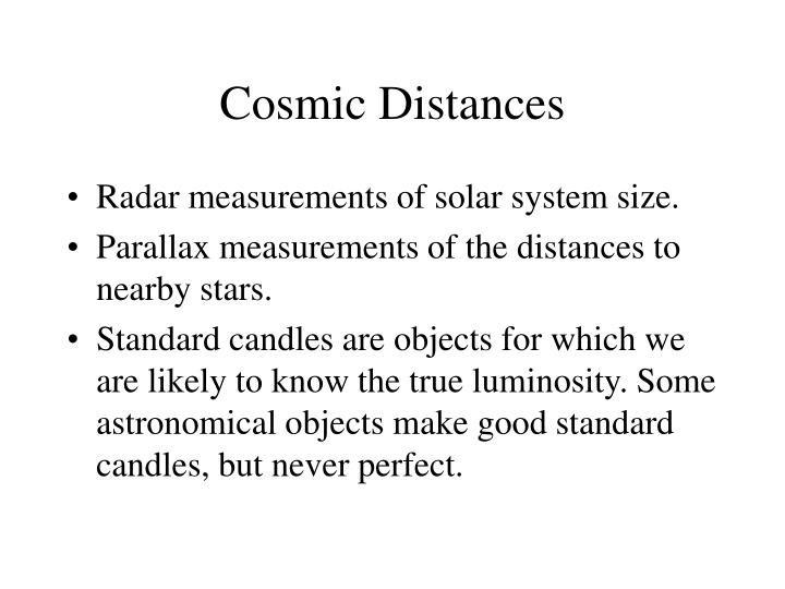 Cosmic Distances