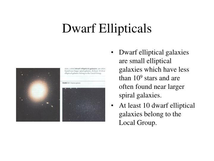 Dwarf Ellipticals