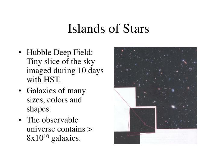 Islands of Stars