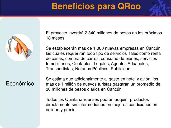 Beneficios para QRoo