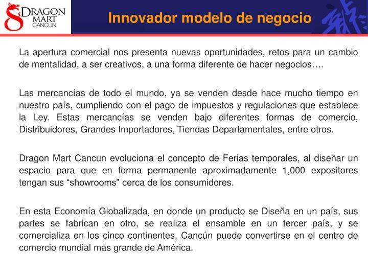 Innovador modelo de negocio