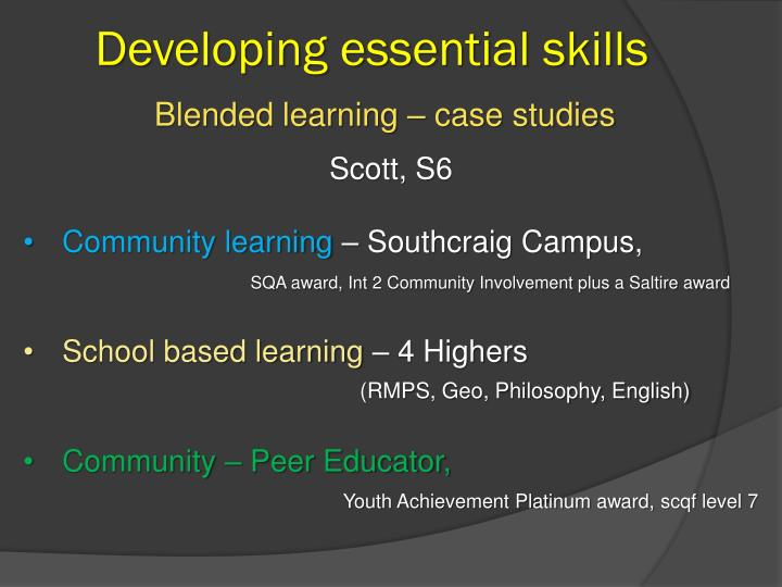 Developing essential skills