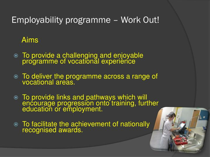 Employability programme – Work Out!