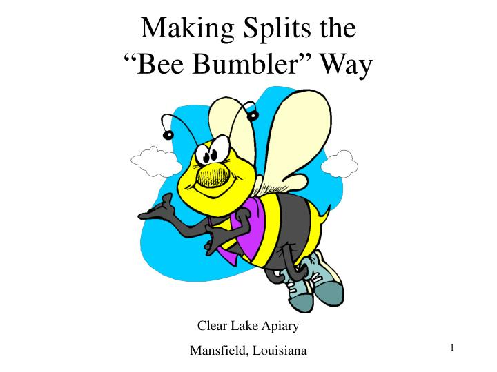 Making splits the bee bumbler way