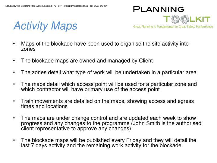 Activity Maps