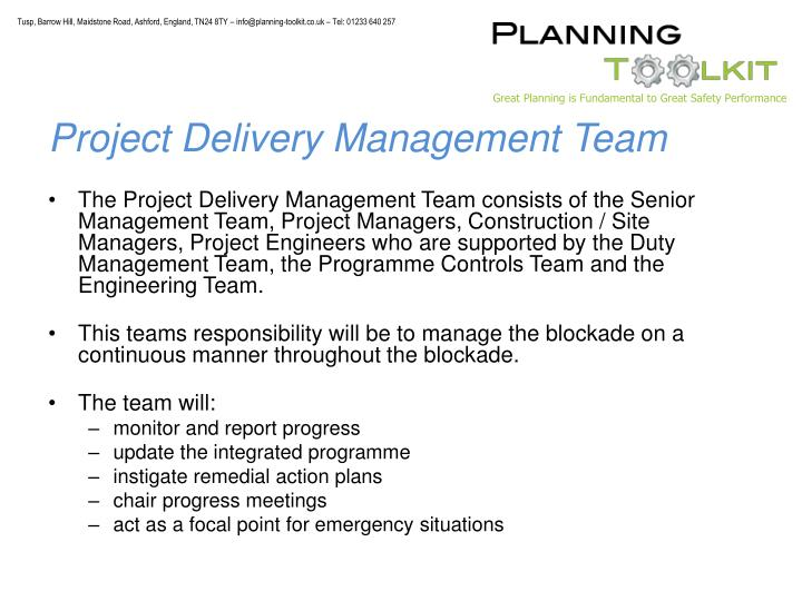 Project Delivery Management Team