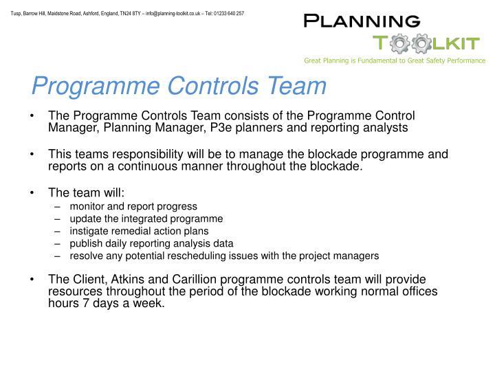 Programme Controls Team
