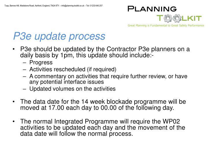 P3e update process